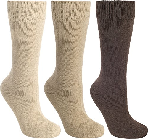 trespass-mens-sliced-winter-socks-3-pair-stone-fawn-brown-size-7-11