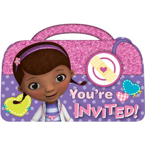 8-Count Doc McStuffins Invitations with Sticker Seals - 1