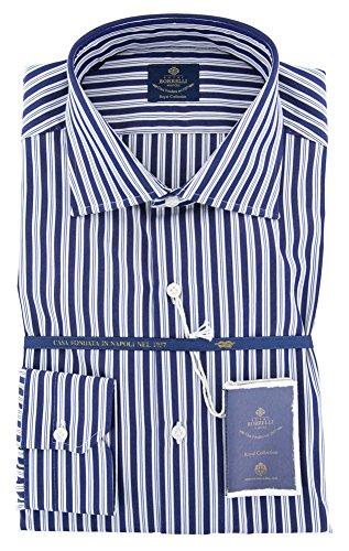 new-luigi-borrelli-navy-blue-striped-extra-slim-shirt