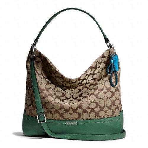 Coach  Coach Park Signature Hobo Shoulder Handbag Sv/Khaki/Ivy F23279