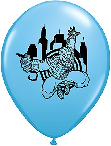 "Pioneer Balloon Company 25 Count Spider-Man Latex Balloons, 11"", Assorted"
