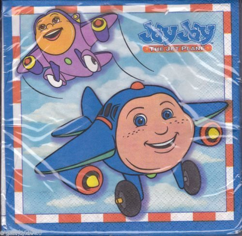 Jay Jay The Jet Plane Large Napkins (16ct) - 1