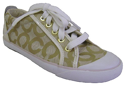 coach barrett alex op light khaki tennis shoes