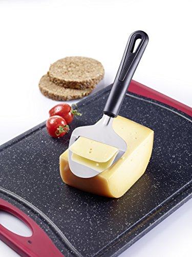 Westmark 28262270 Gentle taglia formaggio, in polipropilene/acciaio Inox, colore: nero/argento, 21 x 7,4 x 3,3 cm