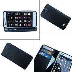 i-KitPit PU Leather Wallet Flip Case For Samsung Galaxy Grand 2 (BLACK)