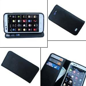 i-KitPit - PU Leather Wallet Flip Case Cover For LG Nexus 4 (BLACK)