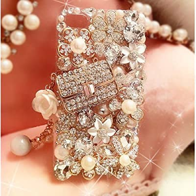 XDAYS(TM) 3D Hot Handmade Luxury Bling Jewelled Rhinestone Diamond Crystal Hard Case Cover For Smart Mobile Phones from XDAYS