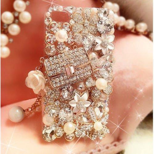 XDAYS(TM) 3D Hot Handmade Luxury Bling Jewelled Rhinestone Diamond Crystal Hard Case Cover Shell skin For Smart Mobile Phones