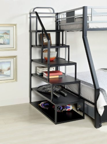 Fine Furniture Of America Metal Bunk Bed Side Ladder Bookshelf Gmtry Best Dining Table And Chair Ideas Images Gmtryco