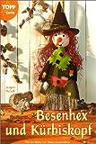 Besenhex und K�rbiskopf. Herbst-Deko mit Naturmaterialien
