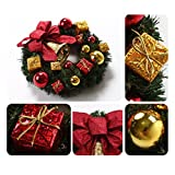 Susenstone® Christmas Party RED Poinsettia Pine Wreath Door Wall Decoration