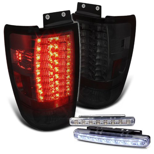 Rxmotoring 2002 Ford Expedition Tail Lights Led Lamps+ 8 Led Fog Bumper Light