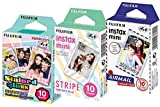 Fuji-Instax-Mini-Stained-Glass-Stripe-and-Airmail-Films-Mini-850s-Mini-90-Mini-25-Pack-of-3