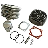 Generic 45mm Cylinder Head Body Piston And Ring Set Fits 60cc Gas Engine Motorized Bicycle Bike