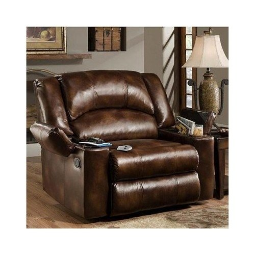 Simmons Brown Leather Over Sized Massage Reclining Chair These Recliner Chairs Are Ideal For The Big Man In Your Life These Large Rocker Recliners Are Perfect For Your Office Living Room Den Or Home Theater This Electric Modern Recliner Has The Power front-1016938