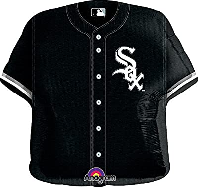 "Anagram International Chicago White Sox Jersey Flat Party Balloons, 24"", Multicolor"