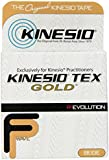 "Kinesio Tex Gold FP (FingerPrint) Tape - Beige - Single Roll - 2"" x 16.4' (5m) - The New, Advanced Formulation of Kinesio Brand Kinesiology Tape"