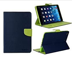 Mercury Goospery Flip Wallet Case Cover for Apple ipad Mini 2 - Blue Green