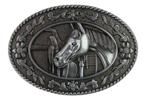 Hogar Zinic Alloy Western Belt Buckle House Head Buckles Color Antique Silver