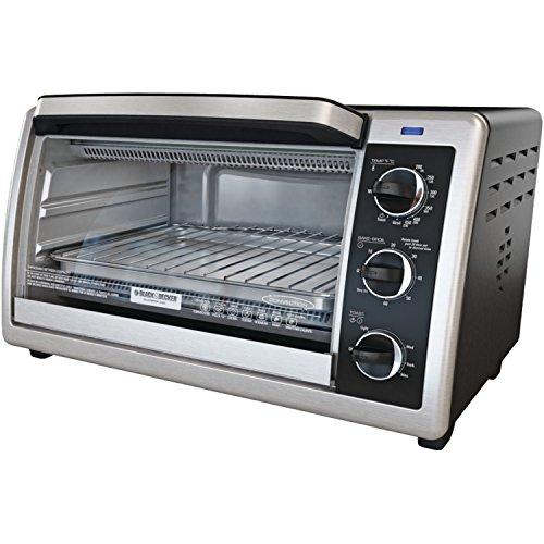 Black & Decker TO1660B 6-Slice Toaster Oven, Black (Black Decker 6 Slice compare prices)