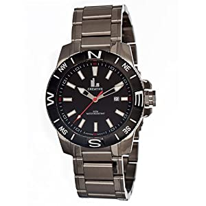 i.s Stainless Steel w/ Direction Watch (Black Dial; Steel Silver Band; Black
