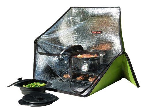 Sunflair Portable Solar Oven Deluxe with Complete Cookware, Dehydrating Racks, and Thermometer