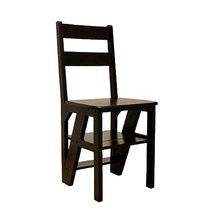 Sgabello pieghevole in legno massello a doppio uso / Sedia a quattro gradini coperta / Sgabello multifunzione a pioli / pino Sgabello mobile 40 * 37 * 90CM ( Colore : B )
