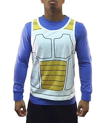 Dragon Ball Z Vegeta Saiyan Armor Costume Cosplay Shirt (Medium)