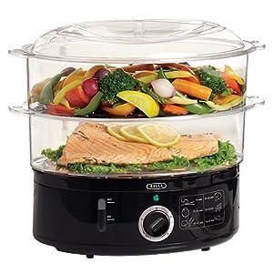 bella 13872 food steamer black kitchen dining