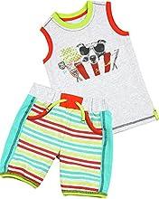 Deux par Deux Boys39 Shorts and T-shirt Puff Doggy Sizes 18M-6
