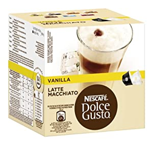 Find Nescafé Dolce Gusto Latte Macchiato Vanilla, Pack of 3, 3 x 16 Capsules (24 Servings) from Nestl