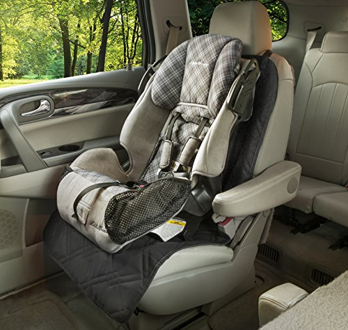 Rumbi Baby Bucket Seat Protector Pad For Carseats With A Lifelong Promise. Black.