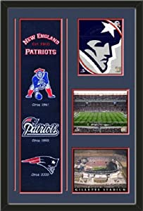 New England Patriots Banner With Logos - New England patriots logo photo, Gillete... by Art and More, Davenport, IA
