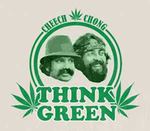 Licenses Products Cheech and Chong Think Green Sticker