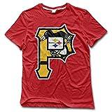 NUBIA Men's Pitt Mix Logo Geek T-shirt Red Size M