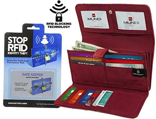 mundi-file-master-womens-rfid-blocking-clutch-checkbook-wallet-with-2-bonus-rfid-blocking-card-sleev