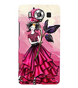 ANIMATED GIRL IN A PINK DRESS 3D Hard Polycarbonate Designer Back Case Cover for Nokia Lumia 950 :: Microsoft Lumia 950