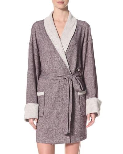 Aegean Apparel Women's Sweatshirt Knit Shawl Collar Robe with Turnback Cuffs