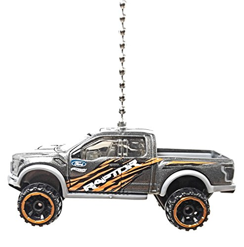 Hot Wheels Car & Truck Ceiling FAN PULL Beaded Chain (2017 Ford F-150 Raptor GREY(Limited Edition)) (Ford F150 Truck Accessories compare prices)