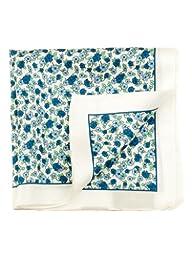 Elizabetta Men\'s Designer Italian Silk Fashion Pocket Square Handkerchief,Nico Blue