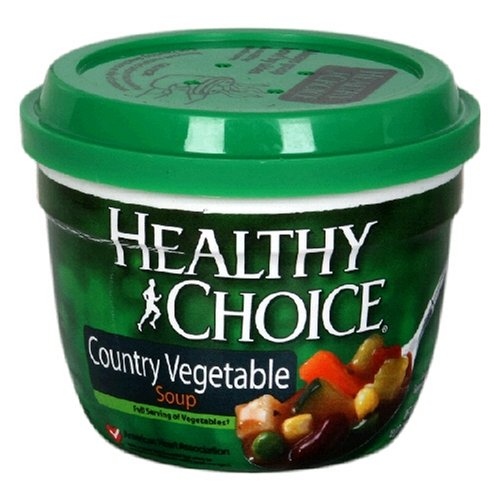 Healthy Choice Country Vegetable Soup, 14-Ounce Microwave Bowls (Pack of 12)