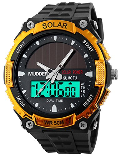 men-sports-solar-power-50m-waterproof-outdoor-lcd-movement-military-watch-gold