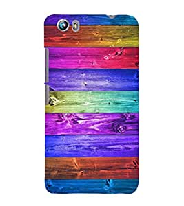 EPICCASE rainbow colors Mobile Back Case Cover For Micromax Canvas Fire 4 A107 (Designer Case)