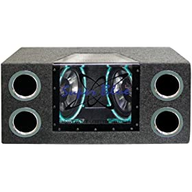 Pyramid BNPS102 10-Inch 1000-Watt Dual-Bandpass System with Neon Accent Lighting