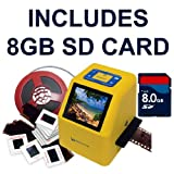 Wolverine 20MP 4-In-1 Film to Digital Converter (F2DSUPER) - Bundle INCLUDES 8GB SD Card