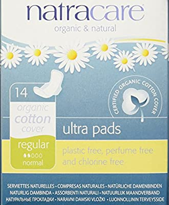 Natracare Ultra Pads with Wings Regular, 14 Count