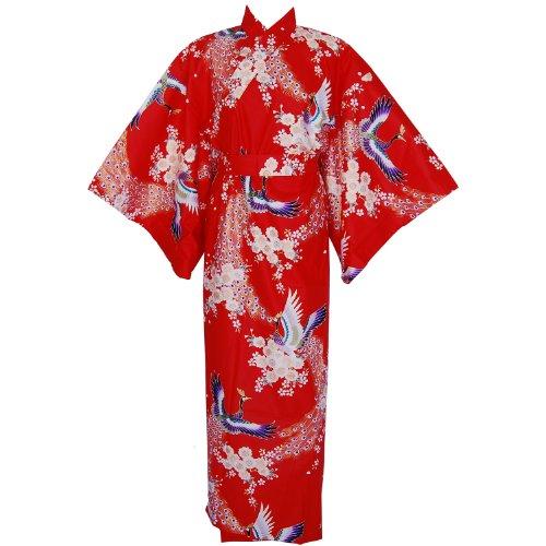 Cherry blossom kimono - Red, one size
