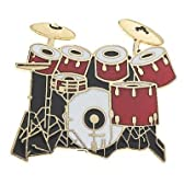 ドラムセット7 pc. 赤 ミニピン 7pc. Drum Set Mini Pin