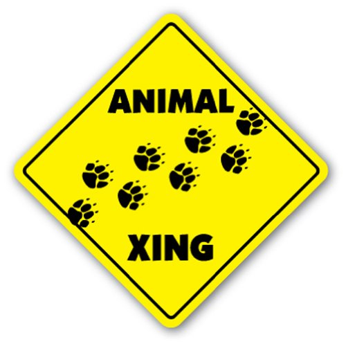 ANIMAL CROSSING Sign xing gift novelty love zoo cat dog bird fish all any