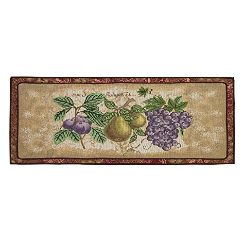 Nantucket Home Tapestry Runner Home Decor Accent Area Rug, 24-Inch x 60-Inch (Grapes) (Grapes Rug compare prices)